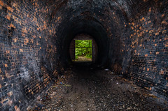 12 Getting Deep (daedmike) Tags: scotland dereliction tunnel abandoned train railway neidpath peebles lothian