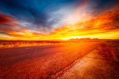 ROAD (Laurent DZQ) Tags: sunset sky hdr wild west monumentvalley canon nature colors landscape