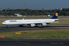 DLH_A346_DAIHR_DUS (Yannick VP) Tags: civil commercial passenger airbus a340 a340600 daihr dlh lufthansa dusseldorf international airport dus eddl september 2016 23l