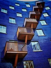 Long Term Memory (Douguerreotype) Tags: london city uk england britain urban urbex british gb balcony glass purple buildings diagonal window architecture