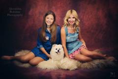 (MissSmile) Tags: misssmile mother daughter together memories sweet adorbale puppy portrait studio connection family