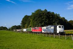 151 056 + 151 060 (139 310) Tags: lokomotion baureihe deutschland 151056 evu 151 np tec zugnummer kbs 151060 tec42861 kbs950 wenzelklv groskarolinenfeld bayern de
