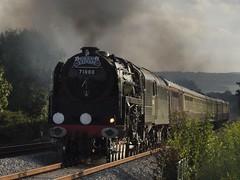20110821 BR 8P No. 71000 Duke of Gloucester (paulbrankin775) Tags: 71000 duke gloucester torbayexpress steam loco locomotive torbay express smoke br 8p t