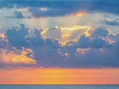 Jersey Shore Morning (Shannonsong) Tags: clouds sunrise ocean sea jersey newjersey springlake sunlight sunrays