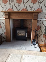 Christine Fraser (Contemporary Corbel Surround) (Designer Fireplaces) Tags: chamber fireplace hearth stove