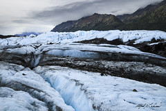 On Matanuska Glacier (Alfred J. Lockwood Photography) Tags: alfredjlockwood nature landscape hiking glacier matanuskaglacier matanuska alaska morning summer overcast ice mountain