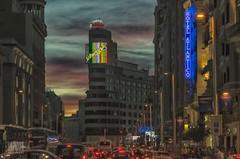 Madrid (Uxo Rivas) Tags: madrid neon granva luces noche