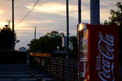 (Minami45) Tags: xpro1 fujifilm xf1855mm sunset japan tokyo cocacola coke red drink parking