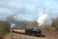 20080404    63395 (paulbrankin775) Tags: 63395 steam north yorkshire moors railway grosmont nymr train banker smoke 080 steep gradient banking