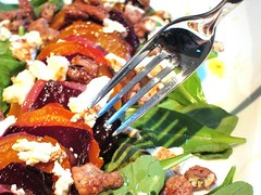 Roasted Heirloom Beet salad for an Early Fathers D