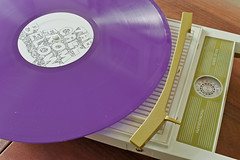 SKRSvinyl1_1 (Wzrdry) Tags: canon vintage purple album 28mm vinyl turntable digitalis lp record phonograph portableturntable xti 400d seekersinternational digitalisindustries skrs thecallfrombelow