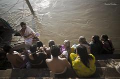 Prayers... (Camera ) Tags: street camera old people india river nikon prayer varanasi priest prayers ganges d7000 kirukan