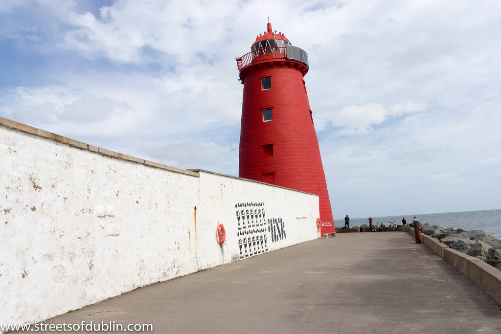 Poolbeg Lighthouse in Dublin Bay was built in 1768