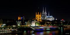 Altstadt bei Nacht (Q-BEE) Tags: night nacht cologne köln rhine rhein