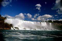 Niagara Falls (nic_r) Tags: sky fall water clouds niagarafalls waterfall niagara falls american maidofthemist