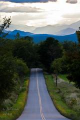 Road to Paradise (betsyfinstad) Tags: road trees mountains vermont adirondacks shady sunbeams