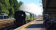 RD7411. TANGMERE racing through Fleet. (Ron Fisher) Tags: tangmere 34067 fleetstation dorsetcoastexpress