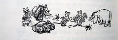 Friends and Relations (Lise Petrauskas) Tags: bear original usa rabbit art illustration vintage portland photography book photo blackwhite artist drawing or bees bears photograph owl winniethepooh piglet eeyore childrensbook authentic hardcover aamilne ehshepard lisepetrauskas