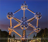 Atomium - Brussels - Belgium (~ Floydian ~ ) Tags: city longexposure sunset brussels canon lights town europe belgium flag capitol bluehour brussel meijer henk aftersunset floydian proframe proframephotography canoneos1dsmarkiii henkmeijer