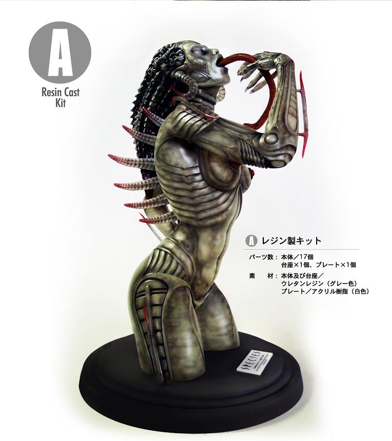 驚悚無比!1/3比例異種雕像