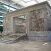 Ara Pacis, ceremonial front with viewer