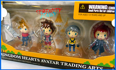 wee cute Kingdom Hearts figures (serenity jenny) Tags: cloud hearts toy toys miniature action avatar small arts kingdom mini axel figures sora riku tradeing