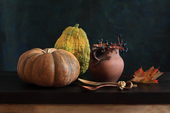 The Autumn Format (panga_ua) Tags: autumn color fall ceramics berries pumpkins shapes september mapleleaf woodenspoons theautumnformat