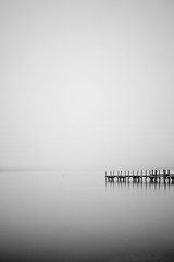Foggy Morning on Lake Winnipesaukee (chris lazzery) Tags: longexposure fog newhampshire meredith minimalism lakewinnipesaukee canonef24105mmf4l 5dmarkii bw30nd