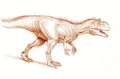 allosaur sketch (paul heaston) Tags: art notebook artwork drawing journal sketching sketchbook paleontology dinosaurs penandink paleoart