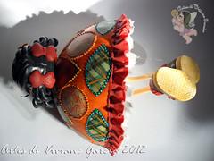 Namoradeira Lais (Artes di Viviane Garcia) Tags: doll biscuit infantil kawaii boneca decoração cabaça namoradeira vivianegarcia