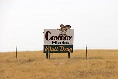 Cowboy Hats (the_mel) Tags: wall southdakota highway billboard advertisement drug 90 i90 walldrug