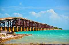old bridge (henkalb) Tags: bridge blue sea beach nikon key caribe d5100