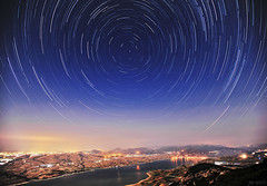 ,   (McHeras) Tags: sky lake night river stars landscape star nikon long exposure nightscape d trails astrophotography astronomy 28 mm nikkor northern f28 afs startrails 1735mm 1735 goules ifed prosilio f28d servia  kozani   d700 aliakmonas    aliakmon