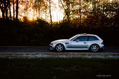 M1SF1T (nate.stevens) Tags: auto autumn trees sunset lake fall nature water leaves car silver nikon 85mm flare bmw nikkor f18 f28 misfits mcoupe mpower clownshoe 1755mm weare138 z3m e368 d7000