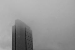 skyscraper in the mist (edwin van buuringen) Tags: seattle blackandwhite mist weather skyscraper sony nd alpha 77
