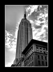 Empire State (manakel) Tags: new york nyc usa white black building noir state manhattan empire blanc manakel