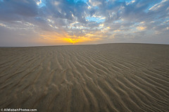 enjoyable the sunset (Najim J. Almisbah) Tags: winter sunset cloud yellow photography desert cloudy kuwait enjoyable  jassim najim       d300s  almisbah almisbahphotoscom almisbahphotos