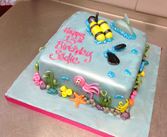 Scuba Diving Birthday Cake