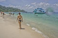 DSC09316 (andrewlorenzlong) Tags: beach water thailand boat sand sam bikini kohchang kohrang kohrangyai korangyai