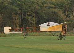 Bleriot XI monoplane c/n 14 (G-AANG) - the world's oldest airworthy aeroplane with the earliest aero-engine in flying condition (stancs) Tags: shuttleworth shuttleworthcollection oldwarden gaang bleriotxi autumnairdisplay oldestaeroplane