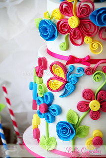 Quilling close up.