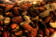 DEEZ NUTS CLOSE-UP HDR (dax46407) Tags: almonds 1855mm hdr cashews pistachios d90 50mmnikon 1855mmnikon nutsinasack