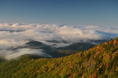 After They've Seen Paree? (Get The Flick) Tags: autumn fall clouds sunrise fallcolor ridge overlook blueridgeparkway pisgahnationalforest clouddeck northcarolinancdevilscourthouse