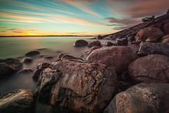 Porkkala (Edgar Myller) Tags: stones landscape nature sunset bluehour wide angle sky colour rocks smooth water sea long exposure nd filter polarizer porkkala finland calmness