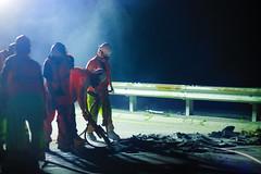 Road Work (BlueShift 12) Tags: newburyport construction worker night light dust drill concrete rubble