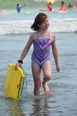Helen And Her Boogie Board (Joe Shlabotnik) Tags: 2016 higginsbeach helent boogieboard maine july2016 ocean beach afsdxvrnikkor55300mm4556ged