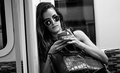 London - 2016 (hoangcharlie.photography) Tags: streetphotography street portrait underground monochrome photography nikon d7100 raw telephone london england stphotographia snap people