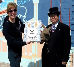 Dr. Takeshi Yamada and Seara (Coney Island Sea Rabbit) visited the Coney Island Polar Bear Club at the Coney Island Beach in Brooklyn, New York on March 27 (Sun), 2016. mermaid. merman. Happy Easter Bunny. 20160327SUN DSCN4689x. Robbie Pope Bailey (searabbits23) Tags: searabbit seara takeshiyamada  taxidermy roguetaxidermy mart strange cryptozoology uma ufo esp curiosities oddities globalwarming climategate dragon mermaid unicorn art artist alchemy entertainer performer famous sexy playboy bikini fashion vogue goth gothic vampire steampunk barrackobama billclinton billgates sideshow freakshow star king pop god angel celebrity genius amc immortalized tv immortalizer japanese asian mardigras tophat google yahoo bing aol cnn coneyisland brooklyn newyork leonardodavinci damienhirst jeffkoons takashimurakami vangogh pablopicasso salvadordali waltdisney donaldtrump hillaryclinton polarbearclub