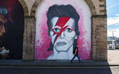 A Lad In Gateshead? (Title Competition) (jerryms) Tags: bowie gateshead caption sane aladdin north east street art picture omd em 5 olympus
