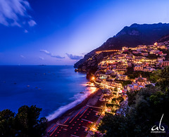 Seaside Town || Positano, Italy (anoopbrar) Tags: positano amalficoast amalfi italy tourism landscape city seascape twilight sunset sunrise bluehour surreal hidden clouds fiery art landcapephotography nature outdoor towns vacation seascapes travel travelphotography water artistic cities night long exposure longexposure reflections foreground dusk citylights architecture buildings urban
